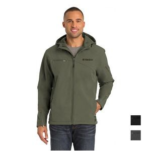 Port Authority� Textured Hooded Soft Shell Jacket
